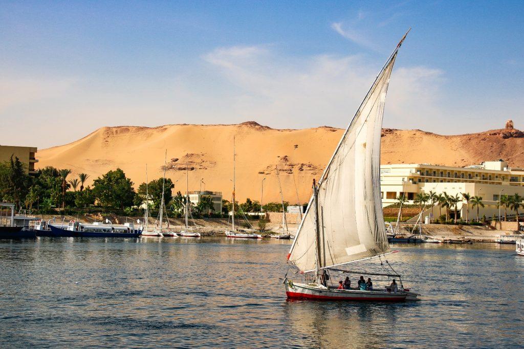 Felucca, Aswan, Egypte