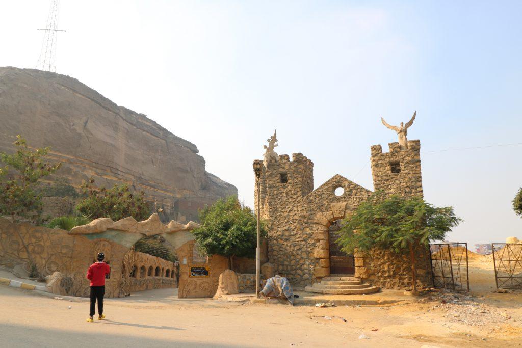 Ingang St. Mark kerk, grotkerk,  Manshiyat Naser, Caïro