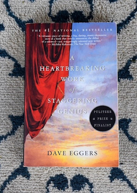 Book cover Dave Eggers - AHWOSG