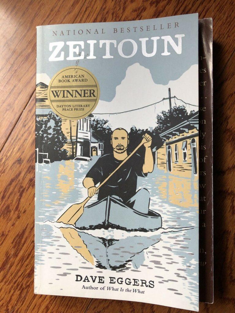Book cover Dave Eggers book Zeitoun