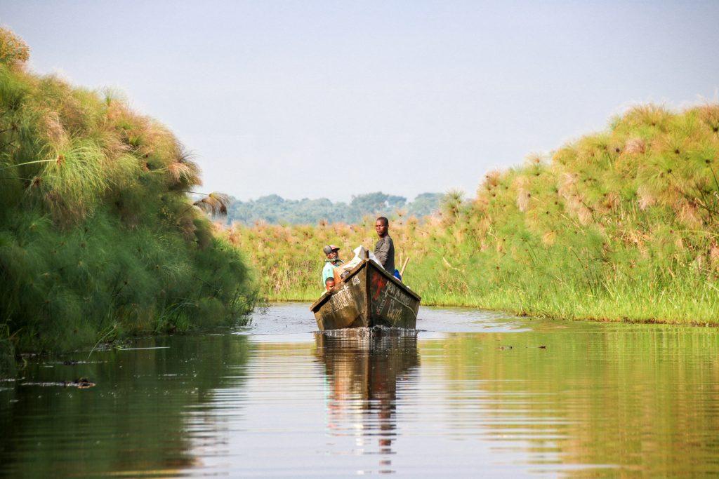 Mbamba-meer tijdens roadtrip Oeganda